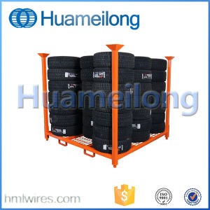 Warehouse Foldable Steel Stacking Tire Rack pictures & photos