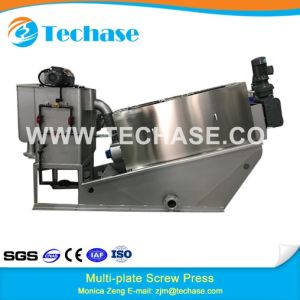 Exported to Europe Screw Press for Paint Sludge Dewatering Screw Press pictures & photos