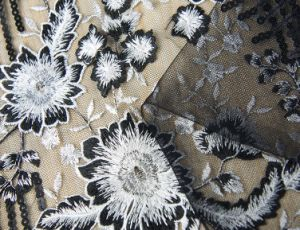 High Quality Embroidery Lace Fabric for Wedding Dress pictures & photos