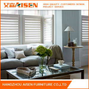 2017 Factory Direct Basswood Wood Plantation Window Shutters pictures & photos
