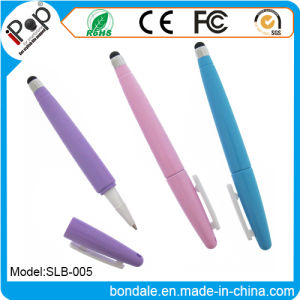 Promotional Pen 2 in 1 Rugby Shaped Stylus Pastel Color for Touch Panel Equipment pictures & photos
