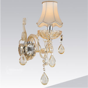 Home Fabric Shade K9 Crystal Wall Light Lamp for Bedside pictures & photos