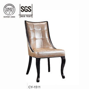 Leather Wooden Restaurant Dining Chair pictures & photos