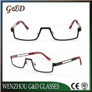 Latest Design Stainless Spectacle Frame Eyewear Eyeglasses Optical Frame 46-062 pictures & photos