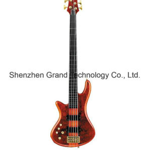 Left-Handed 5 Strings Satin Honey Electric Bass Guitar (SCH-01) pictures & photos