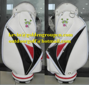 Custom Made Genuine Leather Golf Caddy Bag pictures & photos
