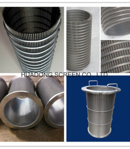 6 Inch Welded Stainless Steel Inverted Wrapped V Wedge Wire Strainer Backwash Screen Pipe Fittings pictures & photos