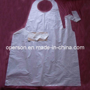 Disposable PE Apron with Various Sizes and Colors pictures & photos
