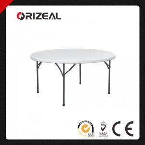 Orizeal Plastic Round Folding Table Oz-T2028 pictures & photos