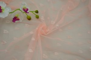 50d 100% Polyester Embroiderred Mosquito Net Fabric pictures & photos
