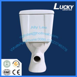 Economic High Efficiency Round Two Piece Ceramic Toilet pictures & photos