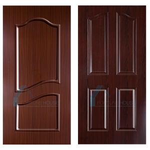 New Design Reverse Raised Melamine MDF Door Skins with Teak Color pictures & photos