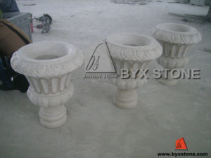 Granite /Marble /Natural Garden Stone Flower Pots pictures & photos