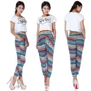 Retro Stylish Women Girl Colorful Pocket Harem Pants Loose Hip-Hop Lady Trousers