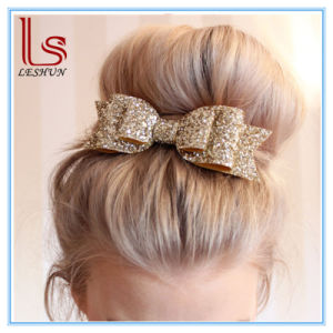 Wholesale Boutique 16 Color Glitter Bright Big Bowknot Hairpin Headdress for Woman and Children pictures & photos