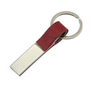 Promotional Zinc Alloy Leather Keyholder with Custom Logo (F1049C)
