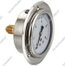 Liquid Oil Filled Manometer Centre Back with Front Flange pictures & photos