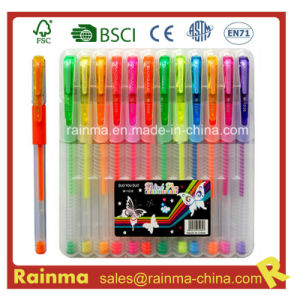 12 PCS Gel Ink Pen Set in Plastic Box pictures & photos