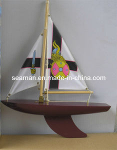 Handcraft Wooden Model Sailboat Model Ship Toy Boat
