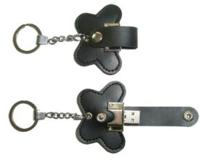Beautiful Leather Gift USB Flash Drive with Chain pictures & photos
