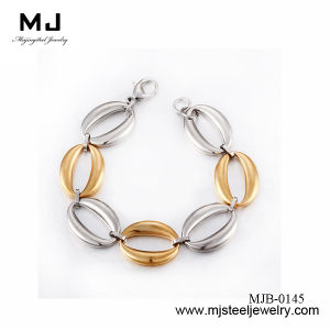 Fashion Gold Plate Stainless Steel Bracelets Mjb-0145
