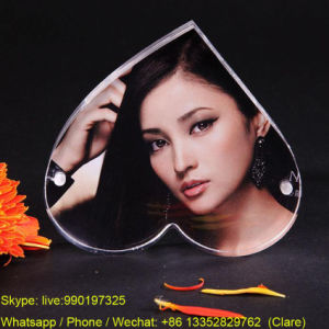 Heart Shape Acrylic Sex Women Photo Frame pictures & photos