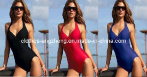 New Sexy Women 2 Color One Piece Ruffles Swimwear (AZAB-13045)
