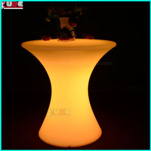 Glowing Table with Storage Glass Top LED Tables pictures & photos