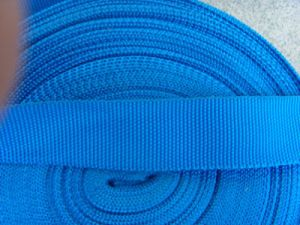 Solid Cotton Braided Blue Webbing pictures & photos