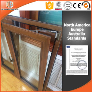 High Quality Solid Oak Wood Aluminum Tilt Turn Window for High End Villas pictures & photos