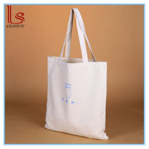 Cheap White Promotional Wholesale Blank Plain Canvas Cotton Shopping Bags pictures & photos