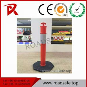 Road Safety Flexible Red Traffic Delineator/T-Top Bollard/T-Top Spring Delineator Post pictures & photos