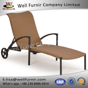 Well Furnir T-019 Rust Free Resin Outdoor Wicker Chaise Lounge Chairs pictures & photos