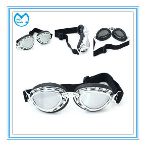 Customized Mirrored PC PU Leather Motocross Harley Sunglasses pictures & photos