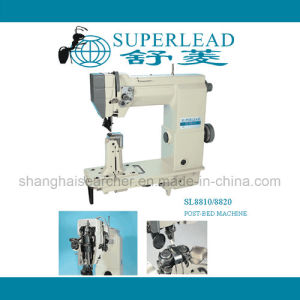 Single Needle Two Needles Post Bed Compound Feed High Speed with Roller for Shoes Sewing Machinery (SL8810/8820)