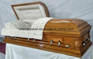 Solid Oak Cream Velvet Interior Casket