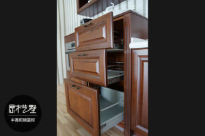 2017 Star Product Solid Wood Kitchen Cupboard (zq-029) pictures & photos