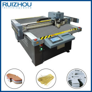 CNC Oscillating Knife Natural Leather Cutting Machine pictures & photos