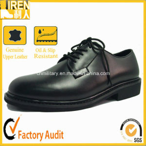 Oxford Style Police Office Leather Uniform Shoes pictures & photos