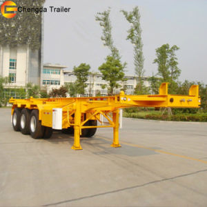 Best Selling 2axle 20feet Skeleton Container Semi Trailer pictures & photos