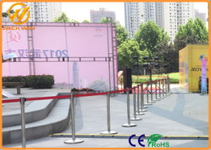Stainless Steel Customized Retractable Belt Queue Post Stand Barrier pictures & photos