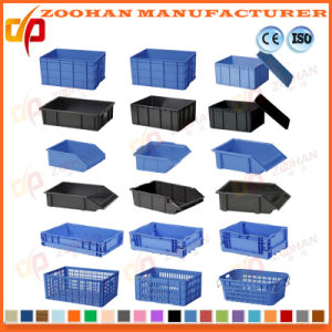 Foldable Plastic Crate Storage Container Vegetables Transport Turnover Box (Zhtb16) pictures & photos