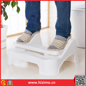 2017 Hot Sales Adjustable Plastic Toilet Foot Stool pictures & photos