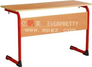 American Style School Furniture Wooden Folding Reading Table pictures & photos