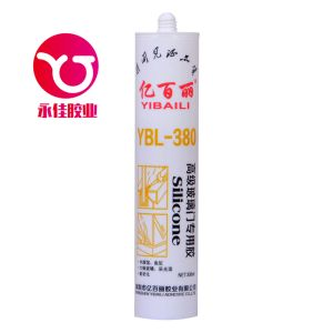 High Grade Glass Door/Curtain Wall Acetic Silicone Sealant (YBL-380) pictures & photos