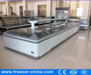 Sliding Glass Door Chest Freezer for Low Temperature Island Freezer pictures & photos