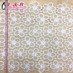 Fashion White Embroidered Chemical Lace pictures & photos