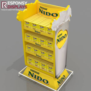 Multiple Material Yellow Boxed Instant Coffee Display Shelves pictures & photos