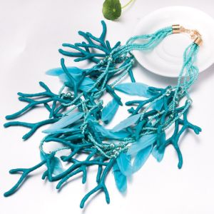 Wholesale Feather Tree Branch Pendant Necklace Fashion Jewelry pictures & photos
