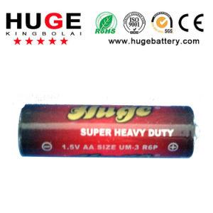 1.5V AA Size (R6 UM-3) Carbon Zinc PVC and Foil Jacket Battery pictures & photos